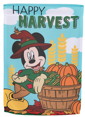 Disney 12 X 18 Mickey Mouse Happy Harvest Garden Flag Fall Thanksgiving Ebay