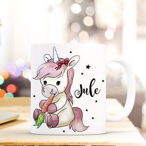 Sanft Kaffeetasse Tasse Becher Einhorn Kaffeebecher Mit Möhre Und Wunschname Ts509 Tassen Kindergeschirr & -besteck
