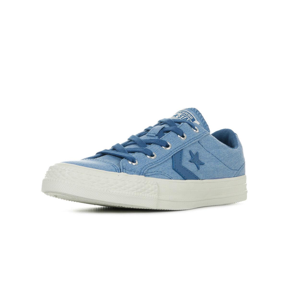 Chaussures Baskets Converse unisexe Star Player OX taille Bleu Bleue Textile