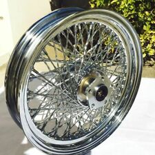 "Chrome 16 X 3"" 80 Twisted Spoke Rear Wheel Rim Harley Softail Dyna Sportster FXR"