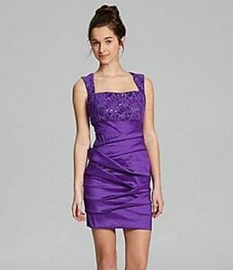 HAILEY LOGAN By Adrianna Papell Strapped Ruched Dress 6 NEW | eBay