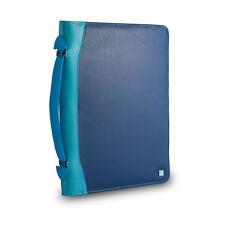 DuDu Cartella portadocumenti A4 in pelle BLU multicolore e porta iPad tablet