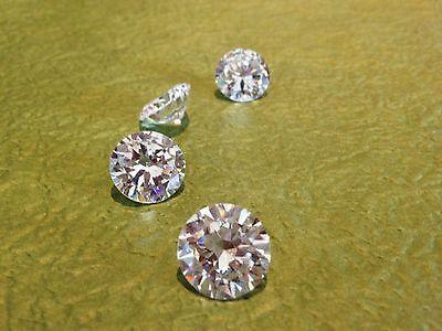0.25 ct 4 mm Russian  Sim WHITE Diamond BRILLIANT CUT 4 pcs