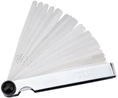 26 Blade Imperial Feeler Gauge Set Draper 51713