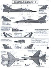 Berna Decals 1/48 DASSAULT MIRAGE F1 B French Jet Fighter Part 1