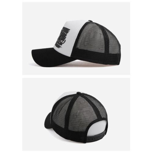 XL~2XL 60~63Cm Unisex Mens New York City Mesh Baseball Cap Trucker Snapback Hats