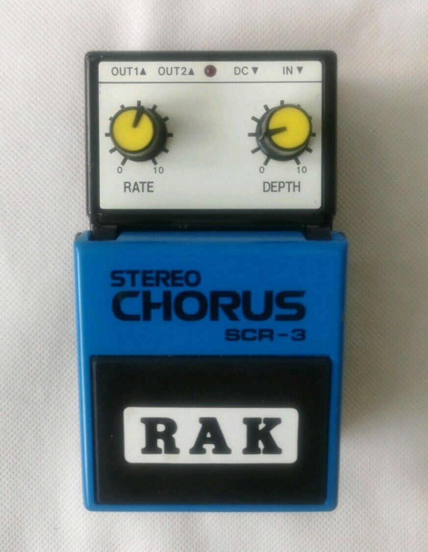 RAK Stereo Chorus SCR-3 Vintage Guitar Effects Foot Pedal