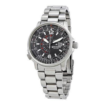 "Citizen Men's BJ7000-52E ""Nighthawk"" Stainless Steel Eco-Drive Watch"