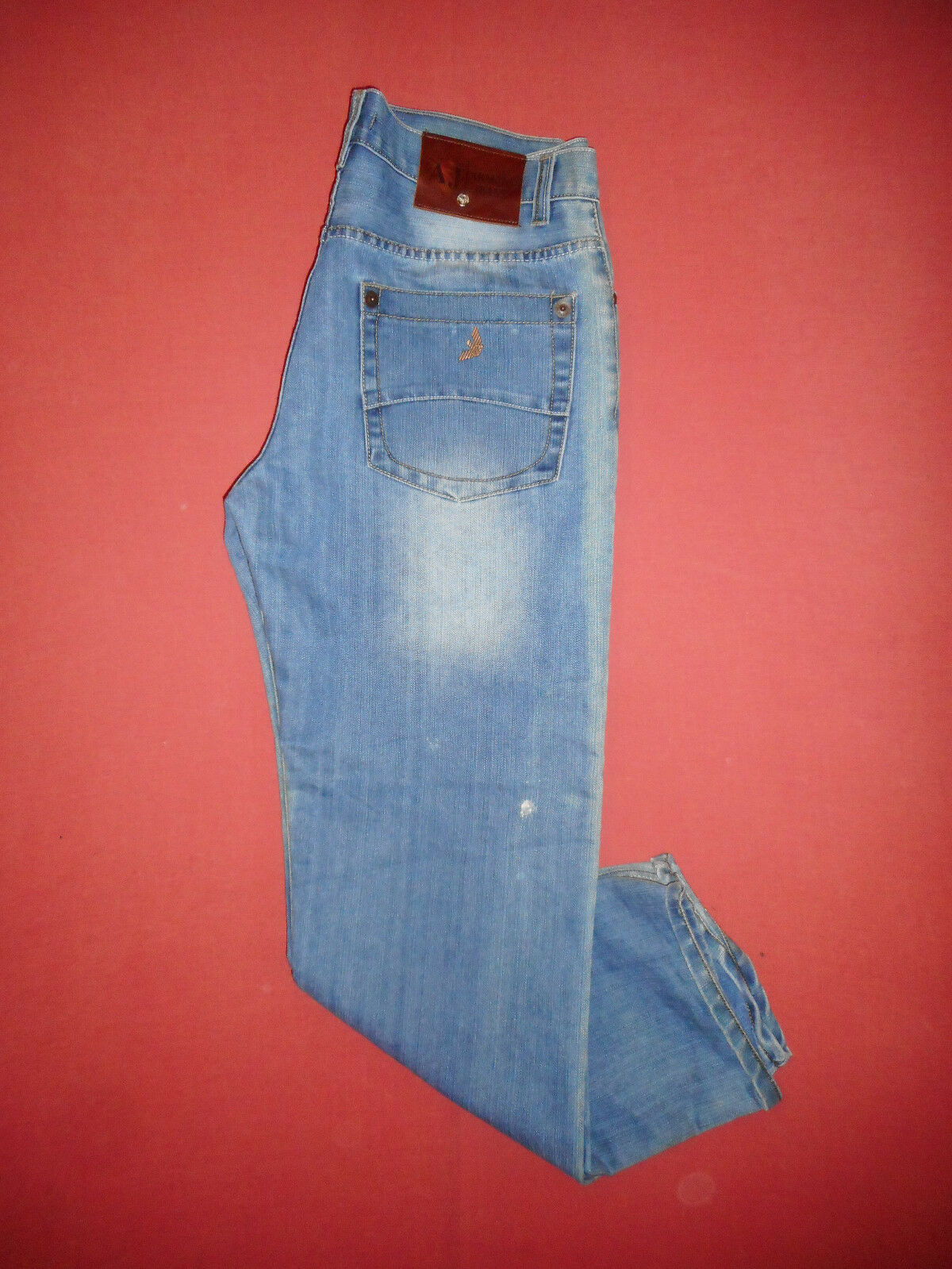AJ Armani - W38 L33 - Mens bluee Denim Jeans - Button-Fly - X222