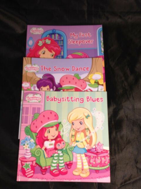 Strawberry Shortcake SOFT COVER Books Lot AMERICAN GREETING 2010,11,12 LOT OF 3