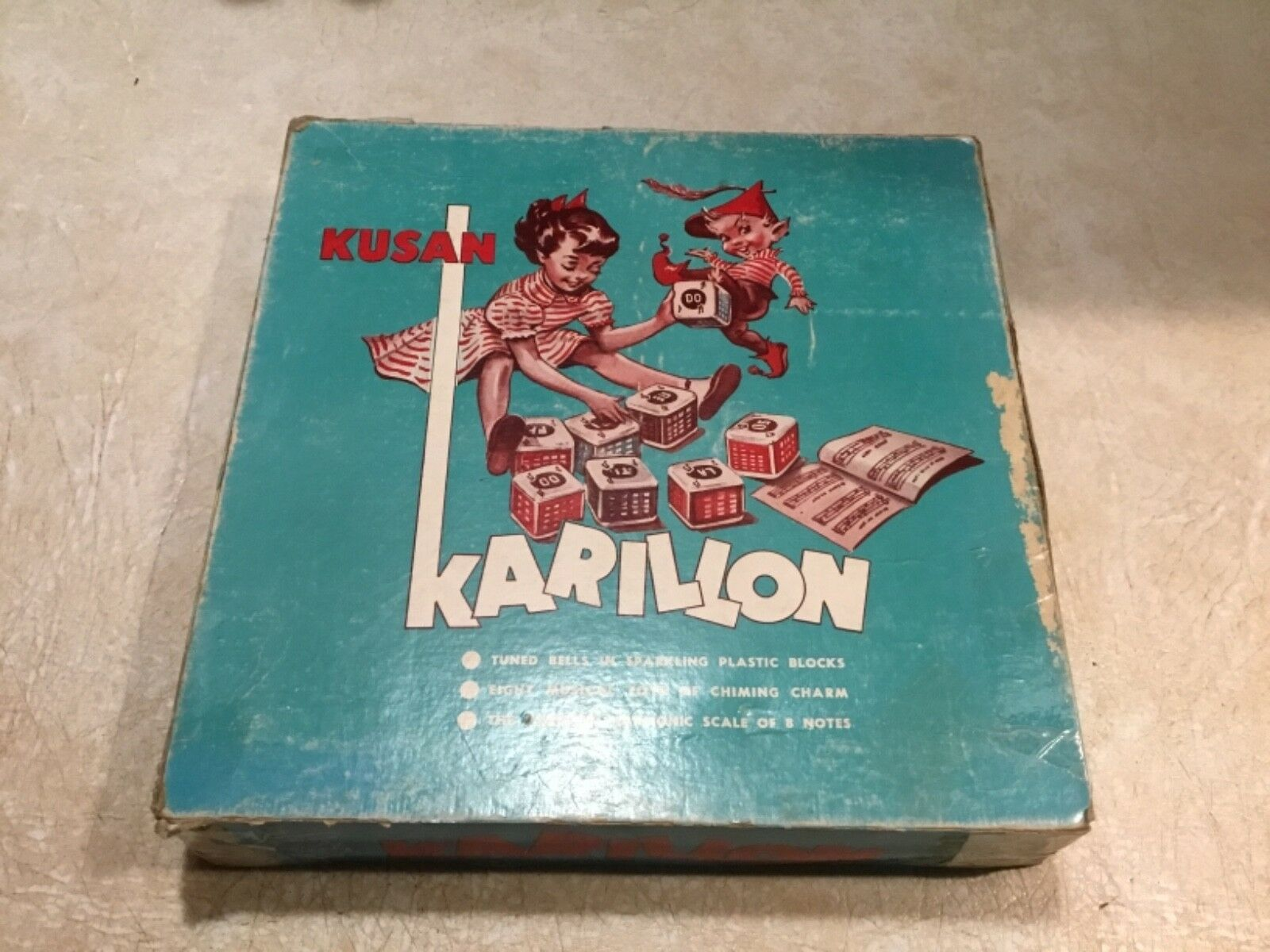 Vintage Kusan  Of Nashville Tn Karillon Bells In Orig Box Song Book WORKING 1940
