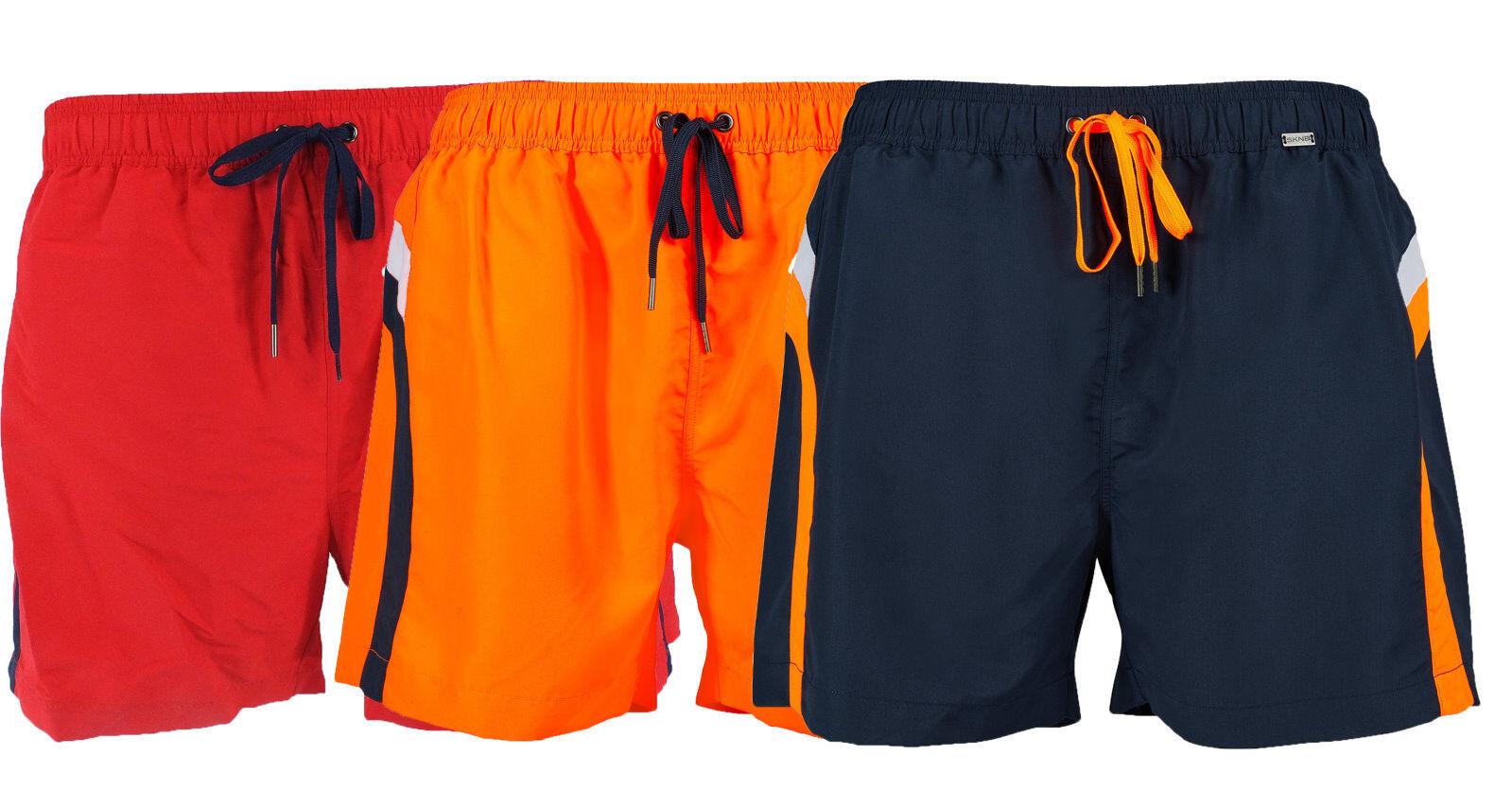 Skiny Men's Swimshorts Swimming Trunks Shorts Red bluee or orange 86096