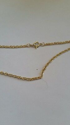 14k Gold plated 2mm Figaro 15 inch necklace  lifetime warranty