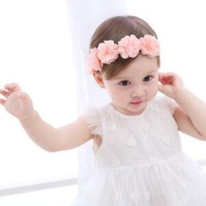 a03379999d0 Newborn Baby Girls Toddler Cute Lace Flower Hair Band Headwear Kids ...