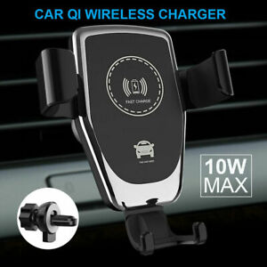 Qi-Wireless-Charger-Car-Phone-Mount-Holder-Bracket-For-iPhone-XR-XS-Samsung-S9