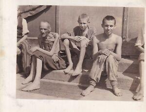 Original WWII Photo LIBERATED DACHAU CONCENTRATION CAMP