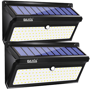 BAXiA-Solar-Lights-Outdoor-100-LED-Upgraded-2000LM-Super-Bright-Solar-Security