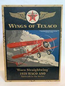 Ertl Wings of Texaco #13 Waco Straightwing ASO Die Cast Bank NIB