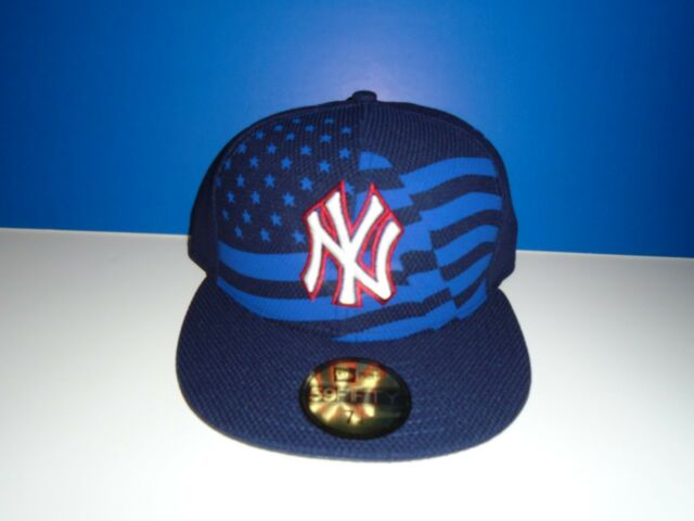 7a0ac23f2b6 New York Yankees New Era 59Fifty 4th of July Fitted Patriotic Flag Hat All  Sizes