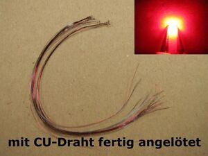 S1037-10-Stueck-SMD-LEDs-0805-rot-mit-Draht-Kupferlackdraht-fertig-angeloetet