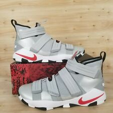 new concept 0e701 9eb3c Nike Lebron James Soldier XI SFG Silver Bullet Red Mens Baskeball Shoe Size  11