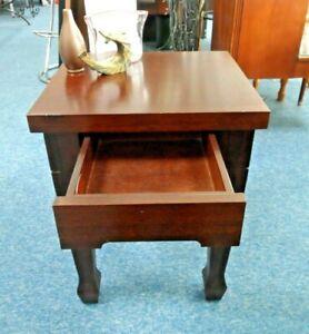 Bedside Table Mahogany YRBATA163 End Wooden Telephone