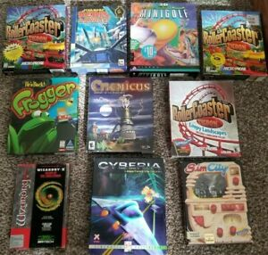 Lot-of-10-Big-Box-PC-Games-Rollercoaster-Tycoon-Star-Wars-SimCity-Wizardry