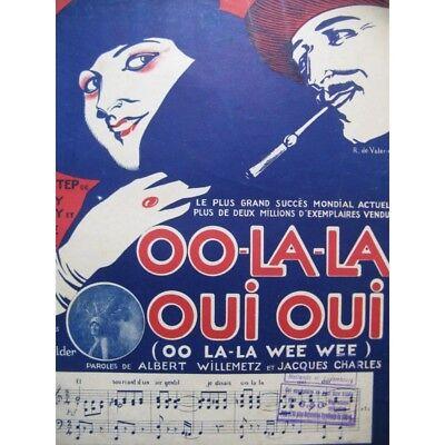 Aktiv Ruby Und Jessel Oo-la-la Oui Oui Piano Chant 1919 Partitur Sheet Music Score