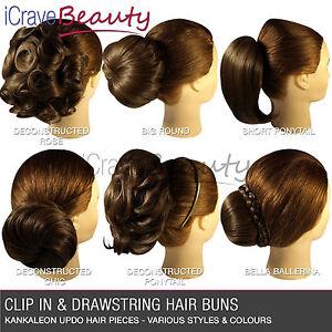 a-cliper-Barrette-sur-Cheveux-En-Chignon-Tout-Styles-amp-Couleurs-Postiche