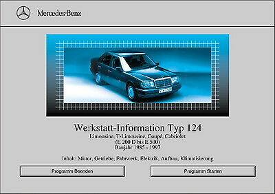 Mercedes-Benz CD ROM Service Manual Library 1986-1995 W124 Chassis ...
