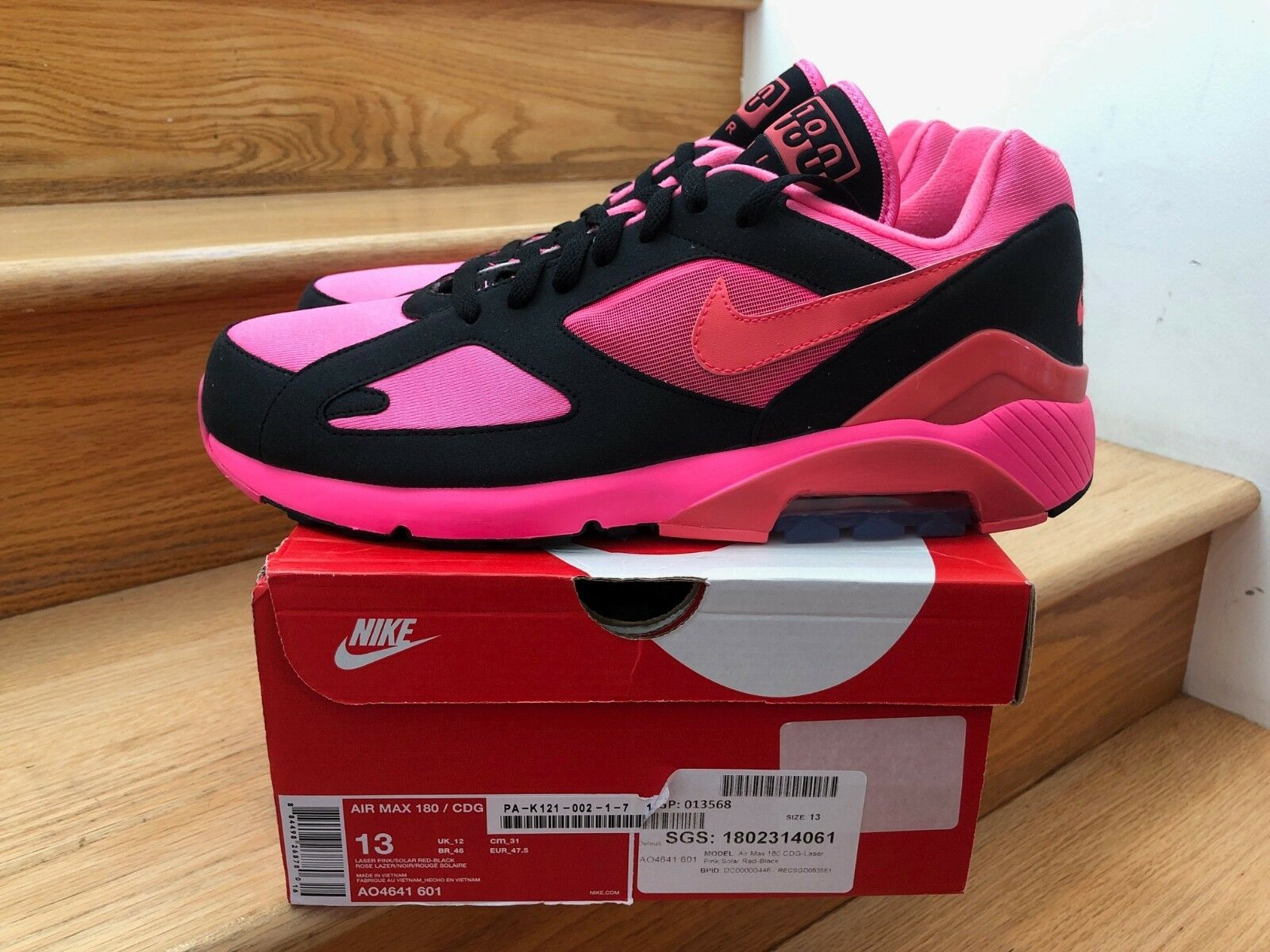 Nike Air Max 180   CDG Pink Black size size size 13 8ea1c2