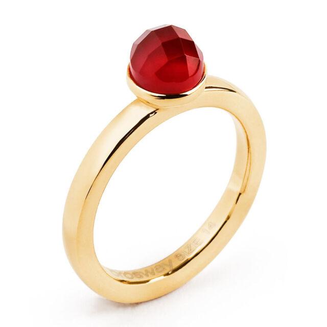 1dfe14e2607401 Anello Donna in acciaio Brosway Btgc27b con Pietra colore Rosso ...