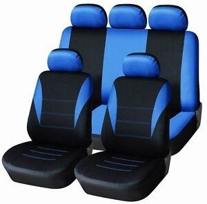 neu auto sitzbez ge schonbez ge komplett satz blau y3 f r audi alfa romeo bmw ebay. Black Bedroom Furniture Sets. Home Design Ideas