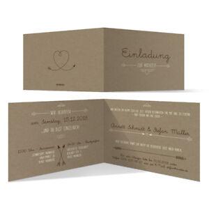 Hochzeit Einladungskarten Hochzeitskarten Pfeil Mit Herz