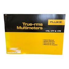 Fluke 175 177 Amp 179 True Rms Multimeters Users Manual
