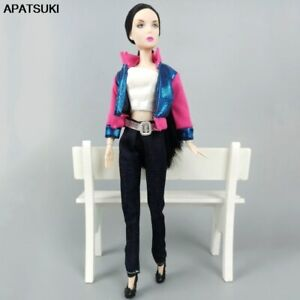 Doll-Clothes-For-Barbie-Dolls-Outfits-Coat-Jeans-Pants-Clothes-For-1-6-BJD-Dolls