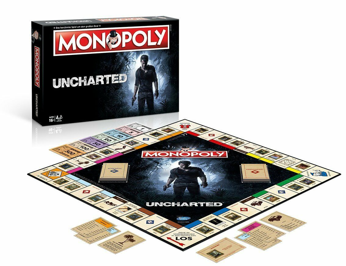 MONOPOLY - UNCHARTED - Winning Moves 44895 - NEU  | Deutsche Outlets