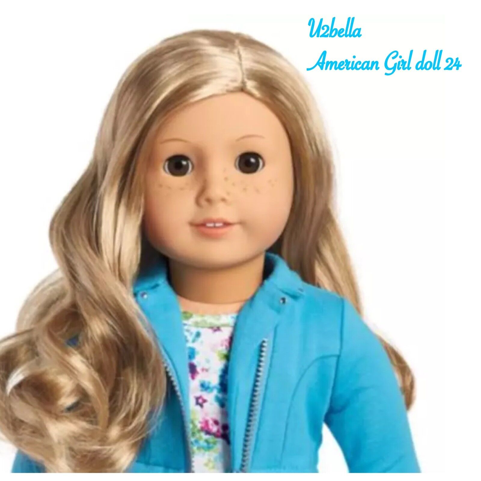 american girl truly me 24 doll wavy blonde hair freckles brown eyes