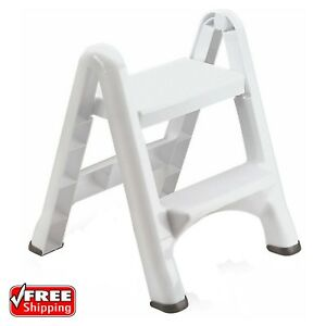 Image Is Loading Two Tier Step Stool Ladder Chair Folding Portable