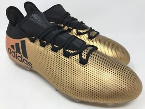 a5fc8c523 Adidas X 17.2 FG Soccer Cleats Techfit NSG Metallic Gold Black ...