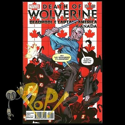 DEATH OF WOLVERINE DEADPOOL /& CAPTAIN AMERICA 1 CANADA CANADIAN McNIVEN VARIANT