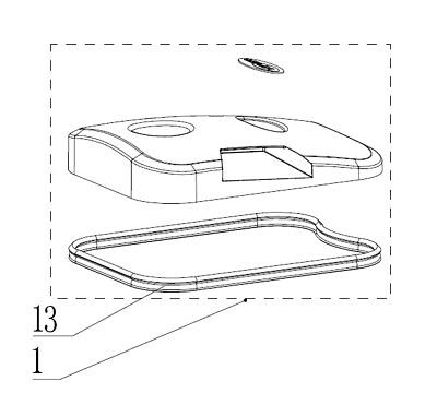 Nilfisk Viper Gummidichtung für Deckel Abdeckung Schmutzwassertank AS710R AS850R