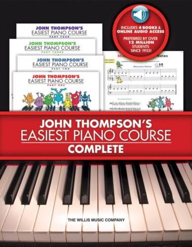 John Thompson/'s Easiest Piano Course Complete 4-Book Set and Audio 000416812