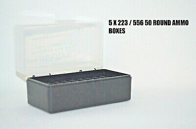 2 X BERRY/'S PLASTIC STORAGE AMMO BOX BLUE COLOR 223//556 ACP 100 rd