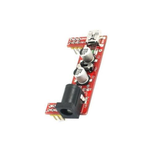 1PCS MB102 Breadboard Power Supply Module 3.3V 5V F Solderless Arduino mini usb