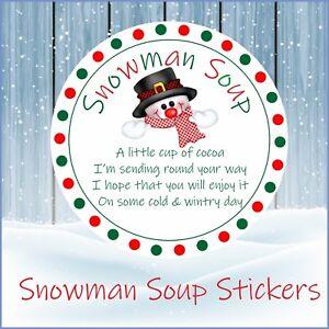 Christmas Fundraiser.Details About 33 Snowman Soup Christmas Stickers Labels Seals School Fundraiser Cones