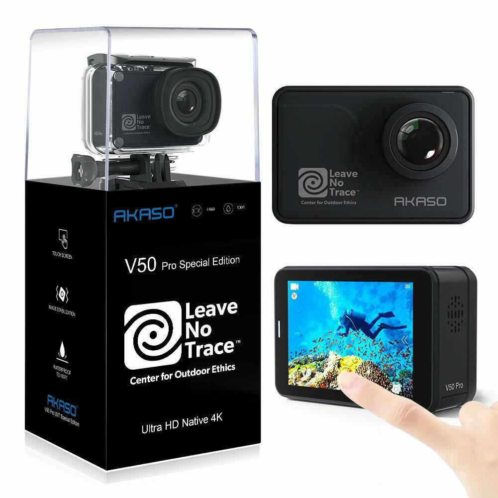 AKASO V50 Pro SE Action Camera 4K/60fps Touch Screen Waterproof w/ 3 x Batteries action akaso batteries camera pro screen touch v50 waterproof