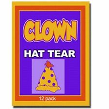 CLOWN HAT PAPER TEAR Magic Trick Kid Shows Restore 12 Set Birthday Comedy Tissue