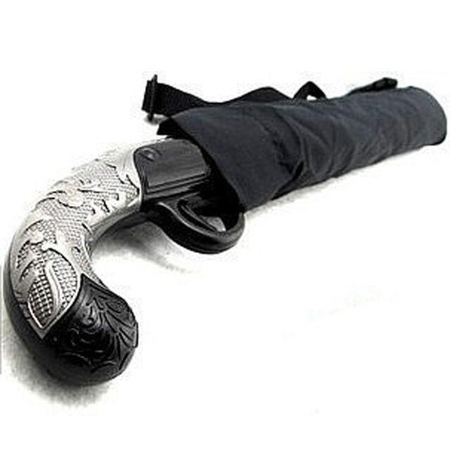 Mens Rain Umbrella Semi-Auto Open Gun Umbrella Fold Sun Umbrella Black Windproof