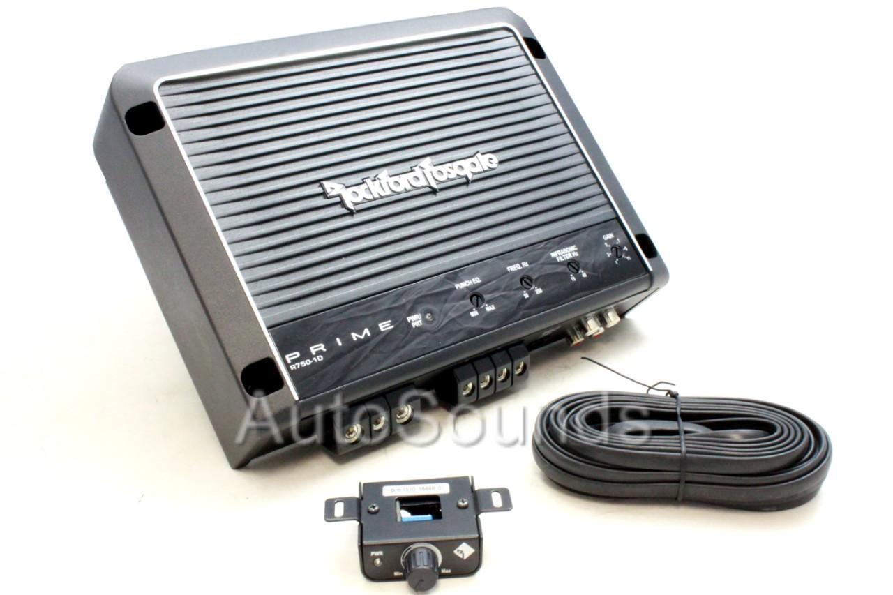 Rockford Fosgate R750 1d 1 Channel Car Amp Ebay Rfk4i 4 Gauge Amplifier Wiring Kit With Rca Cables